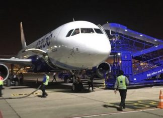 Hyderabad Indigo flight suffers tyre burst while landing