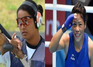 Commonwealth Games Mary Kom & Shreyasi Singh