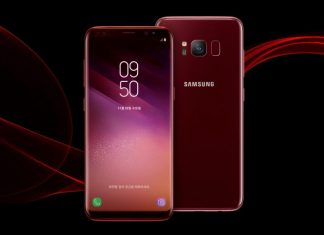 samsung galaxy s8 burgundy-red