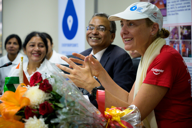 Colgate proudly welcomes Mina Guli to India as part of her